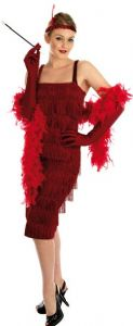 20's flapper charleston costume - red